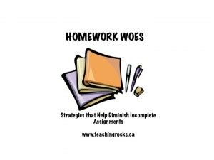 Assignment homework sheet teacher